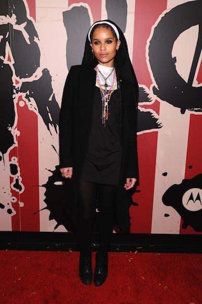 Zoë Kravitz attends Moto X presents Heidi Klum's 15th Annual Halloween Party sponsored by SVEDKA Vodka at TAO Downtown