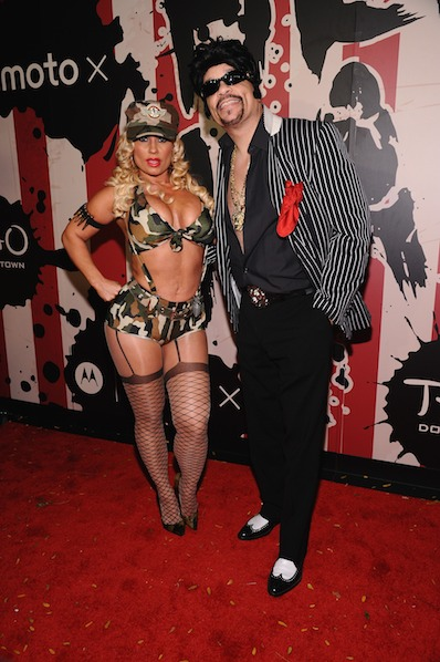 CoCo and Ice T attend Moto X presents Heidi Klum's 15th Annual Halloween Party sponsored by SVEDKA Vodka at TAO Downtown