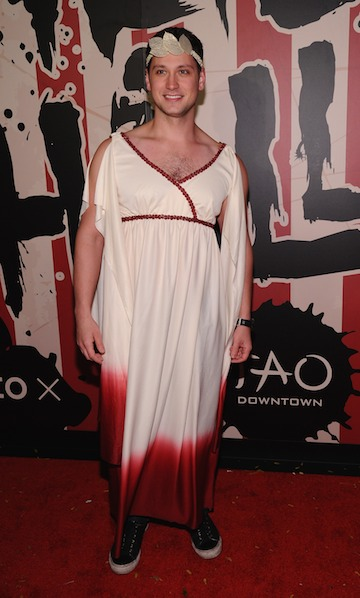 Matt McGorry attends Moto X presents Heidi Klum's 15th Annual Halloween Party sponsored by SVEDKA Vodka at TAO Downtown