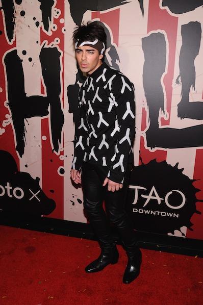 Joe Jonas attends Moto X presents Heidi Klum's 15th Annual Halloween Party sponsored by SVEDKA Vodka at TAO Downtow