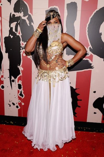 Ashanti attends Moto X presents Heidi Klum's 15th Annual Halloween Party sponsored by SVEDKA Vodka at TAO Downtown