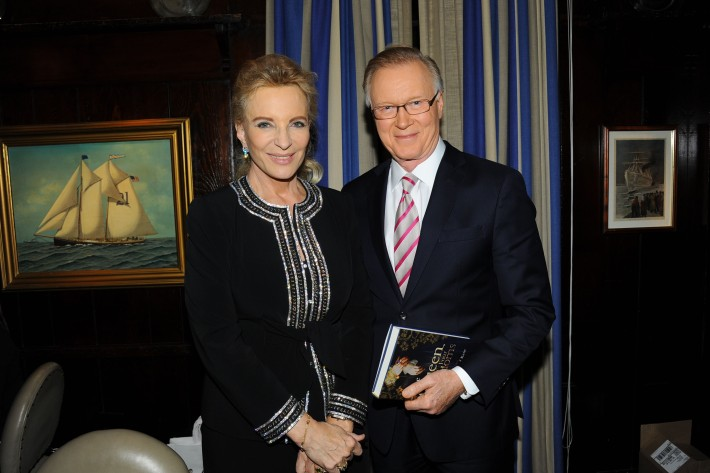 """Princess Michael of Kent, Chuck Scarborough attend Book Launch for HRH Princess Michael of Kent's """"Queen of Four Kingdoms"""" (Photo by PaulBruinooge)"""