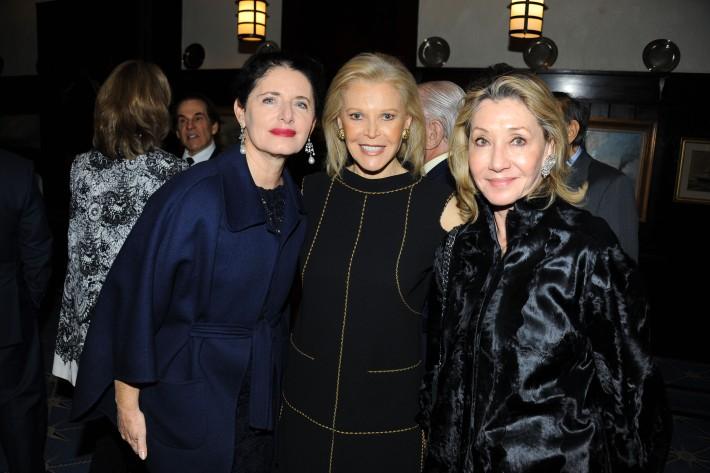 "Luisa Beccaria, Audrey Gruss, Susan Gutfreund attend Book Launch for HRH Princess Michael of Kent's ""Queen of Four Kingdoms"" (Photo by PaulBruinooge)"