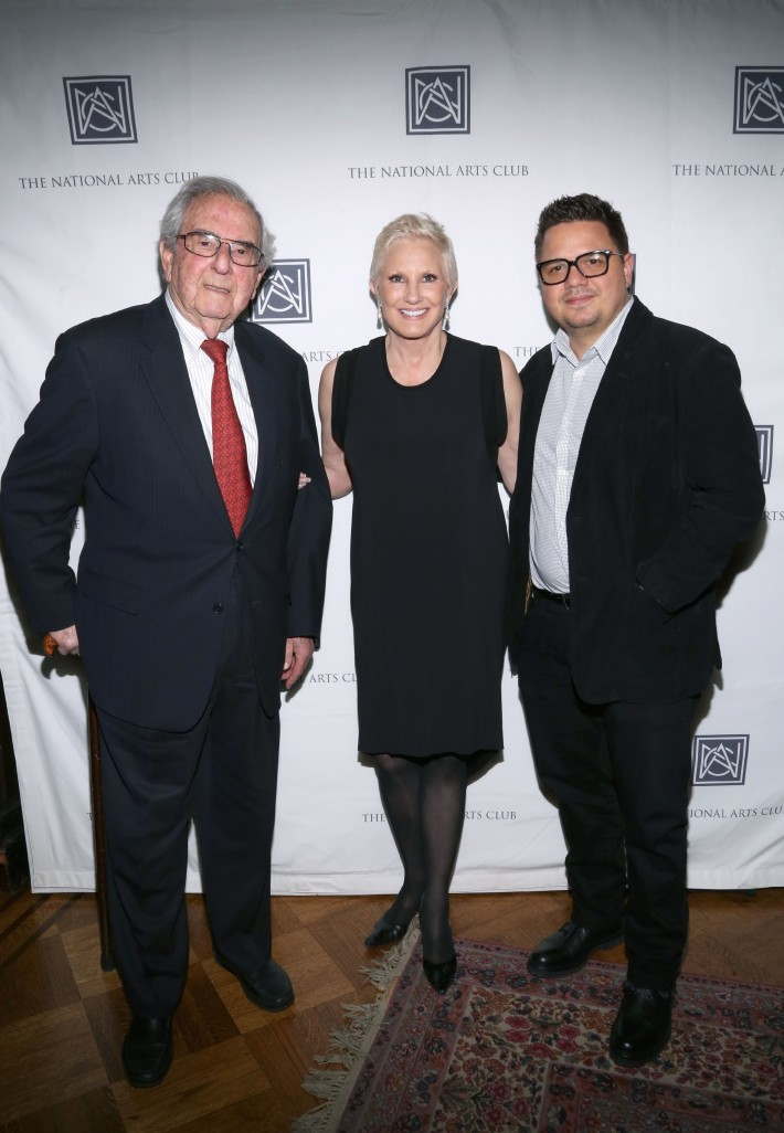 Alex Rosenberg, Dianne B.Bernard, Yoan Capote  attend The National Arts Club opening of Emilia and Ilya Kabakov's 'A Model Point of View' (Photo by Michael Plunkett)