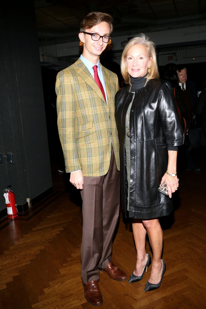 Cole Rumbough, Karen Klopp attend The National Arts Club opening of Emilia and Ilya Kabakov's 'A Model Point of View' (Photo by Michael Plunkett)