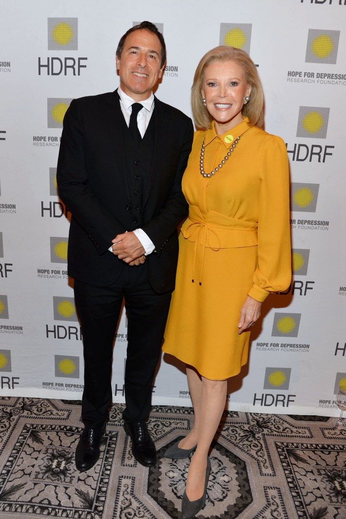 David O. Russell, Audrey Gruss attend Hope for Depression Research Foundation's Eighth Annual HOPE Luncheon Seminar (Photo By JonathonZiegler)