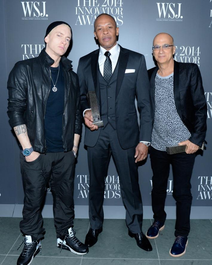 Eminem, Dr. Dre, Jimmy Lovine attend WSJ. Magazine 2014 Innovator Awards at Museum of Modern Art on
