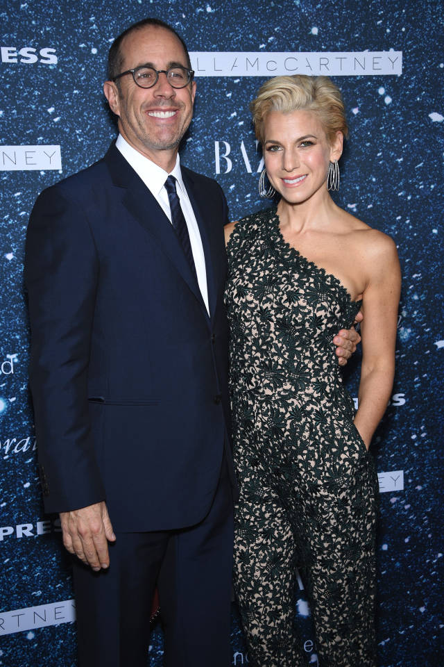 Comedian Jerry Seinfeld  and Jessica Seinfeld attend 2014 Women's Leadership Award Honoring Stella McCartney