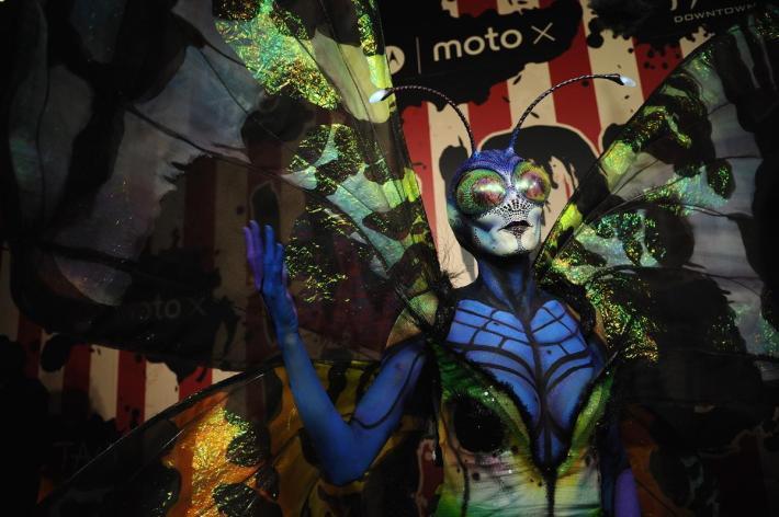 Heidi Klum attends Moto X presents Heidi Klum's 15th Annual Halloween Party sponsored by SVEDKA Vodka at TAO Downtown