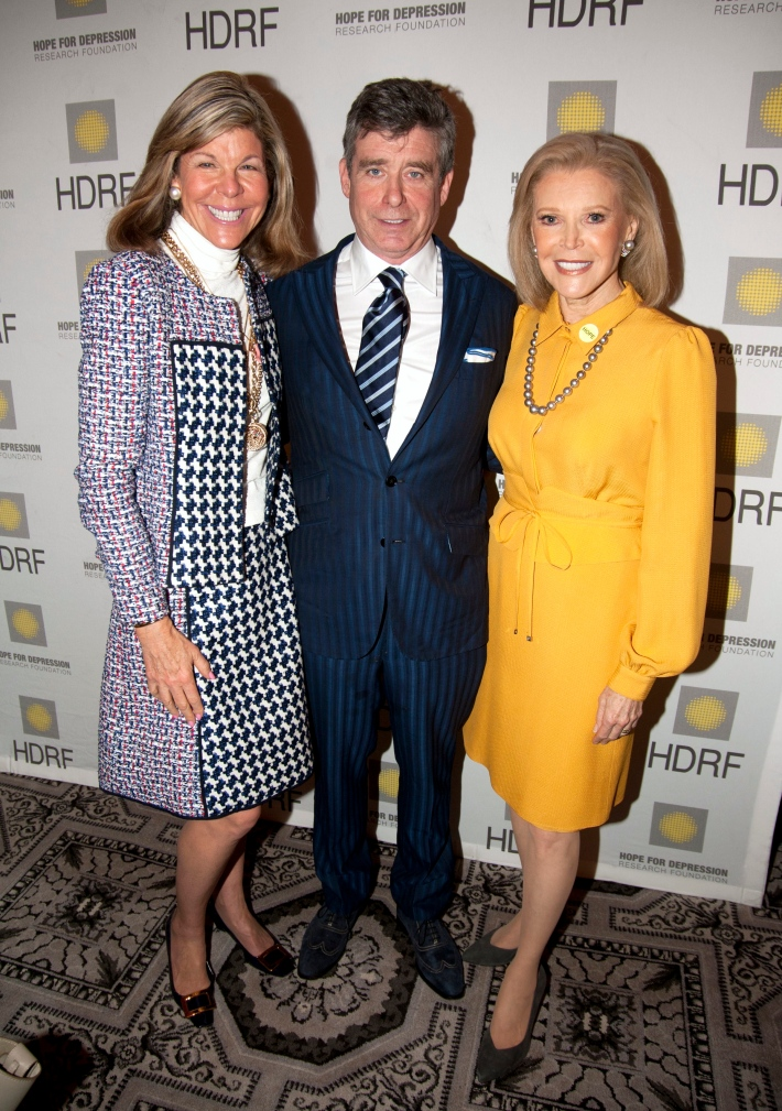 Jamee Gregory, Jay McInerney, Audrey Gruss attend Hope for Depression Research Foundation's Eighth Annual HOPE Luncheon Seminar (Photo By JonathonZiegler)