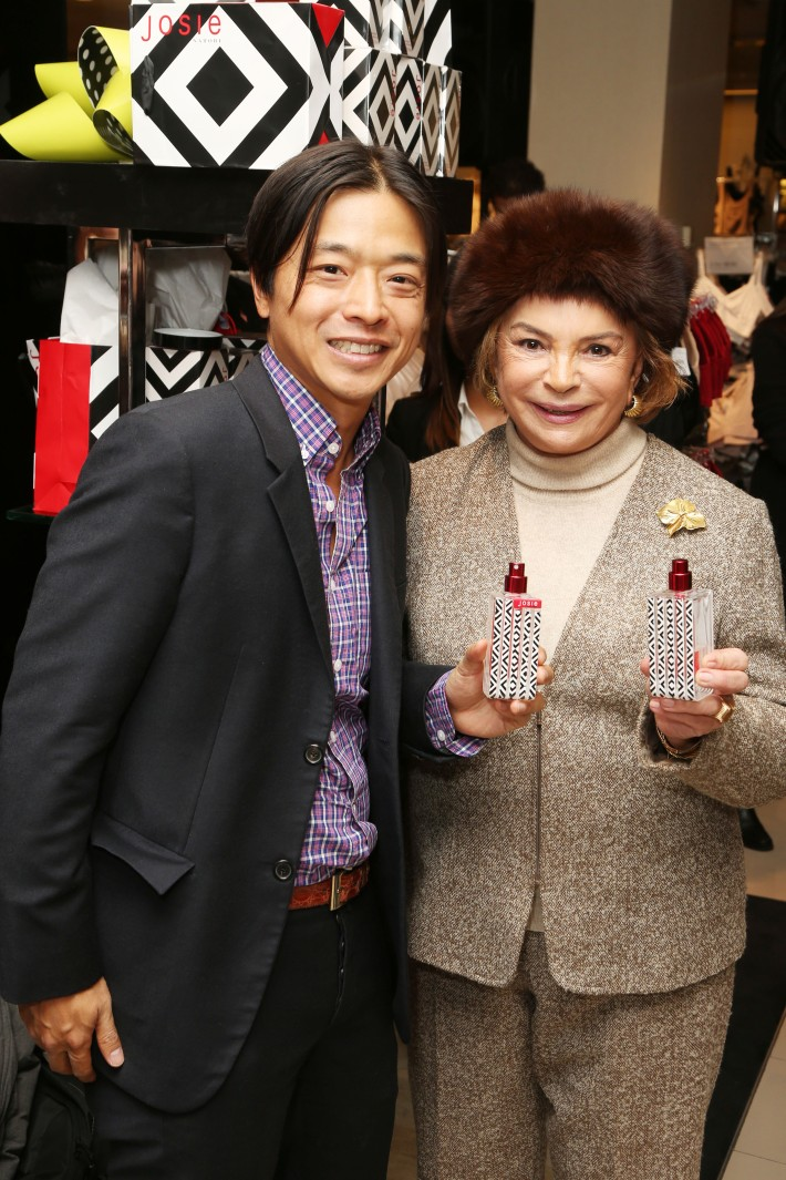 Ken Natori, Tuna Koprulu attend the new fragrance launch of JOSIE by Josie Natori at Bloomingdale's (Photo by  J.Grassi)