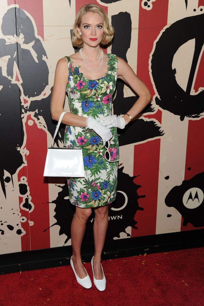 Lindsay Ellingson attends Moto X presents Heidi Klum's 15th Annual Halloween Party sponsored by SVEDKA Vodka at TAO Downtow