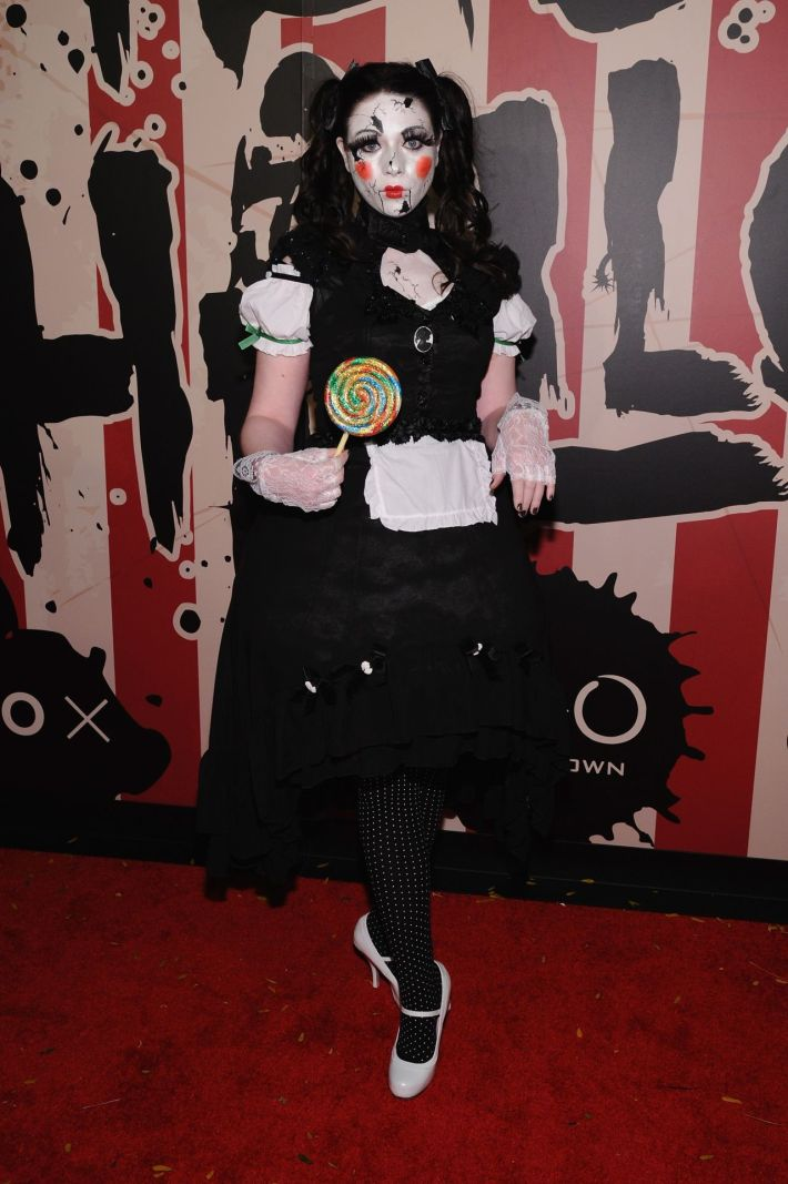 Michelle Trachtenberg attends Moto X presents Heidi Klum's 15th Annual Halloween Party sponsored by SVEDKA Vodka at TAO Downtown