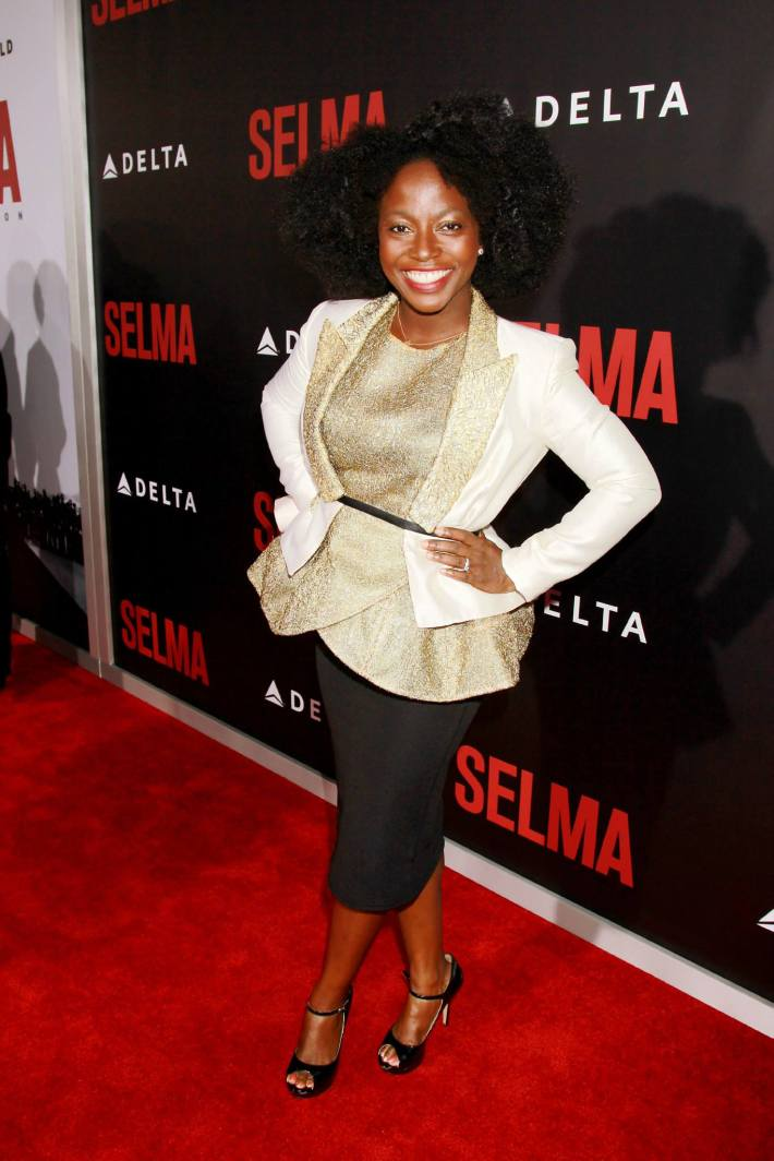 Actress Charity Jordan attends the 'Selma' New York Premiere at the Ziegfeld Theater