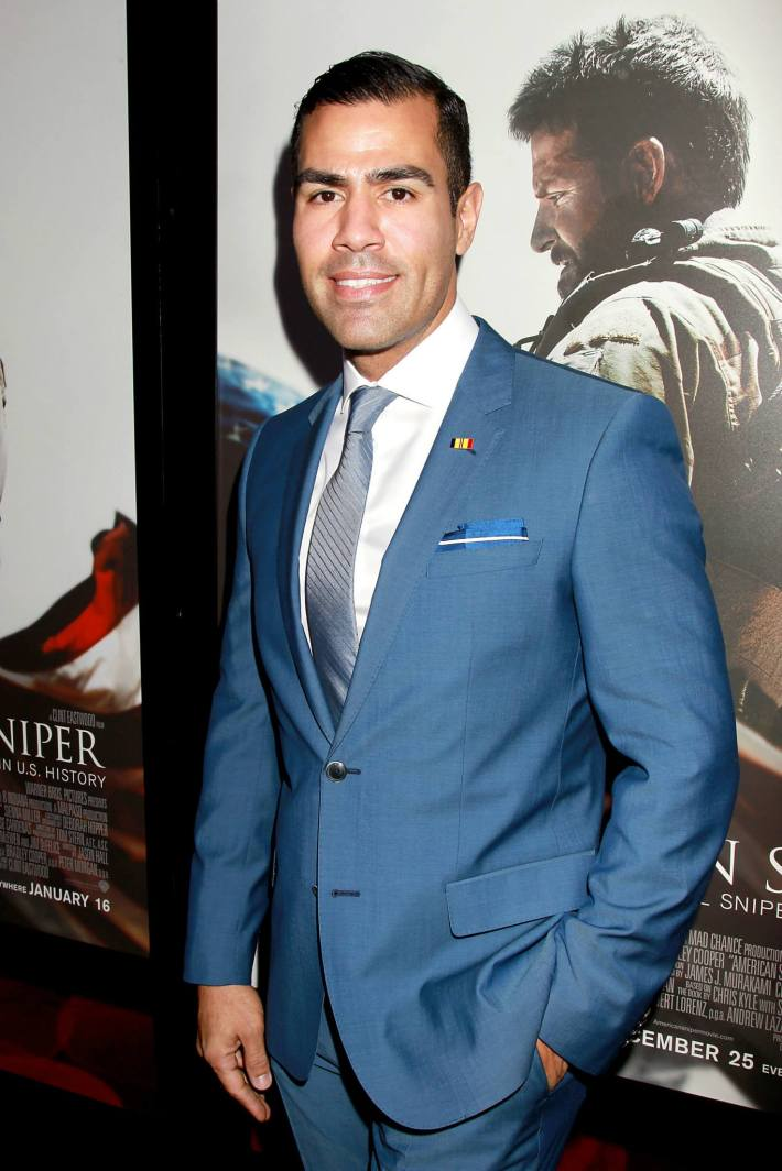 J.W. Cortes attends 'American Sniper' New York Premiere - Outside Arrivals at Frederick P. Rose Hall, Jazz at Lincoln Center
