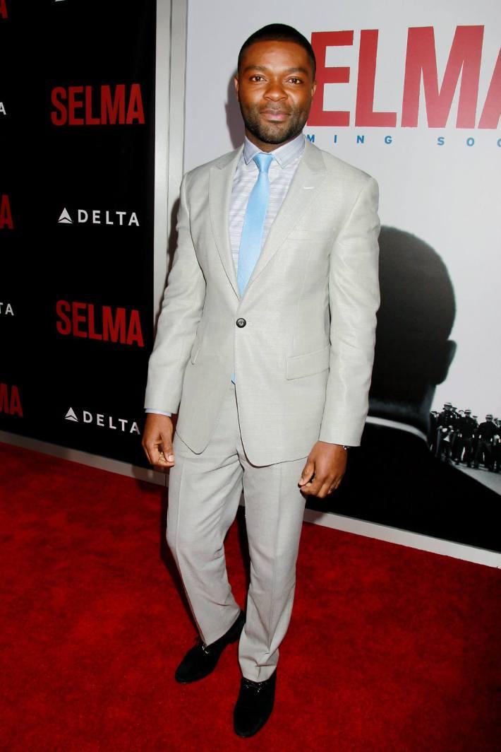 Actor David Oyelowo attends the 'Selma' New York Premiere at the Ziegfeld Theate