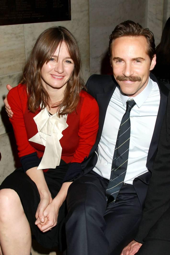 Actor Alessandro Nivola, Emily Mortimer  attend the 'Selma' New York Premiere at the Ziegfeld Theater
