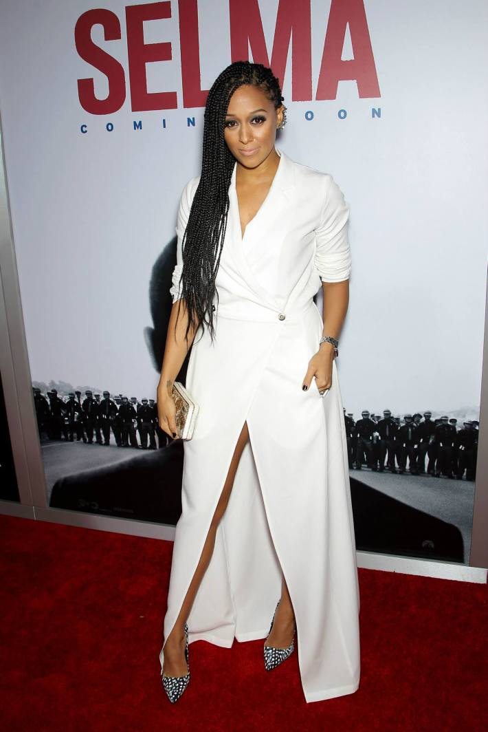 Actress Tia Mowry  attends the 'Selma' New York Premiere at the Ziegfeld Theater