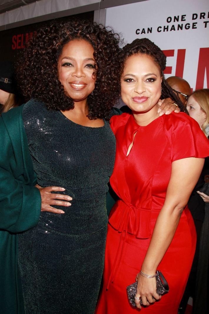 Oprah Winfrey,  director Ava DuVernay attend the 'Selma' New York Premiere at the Ziegfeld Theater