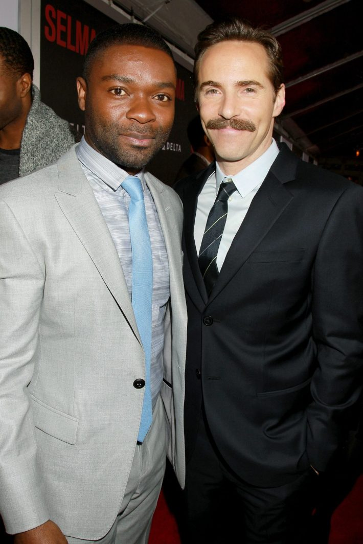 Actor Alessandro Nivola, David Oyelowo    attend the 'Selma' New York Premiere at the Ziegfeld Theater