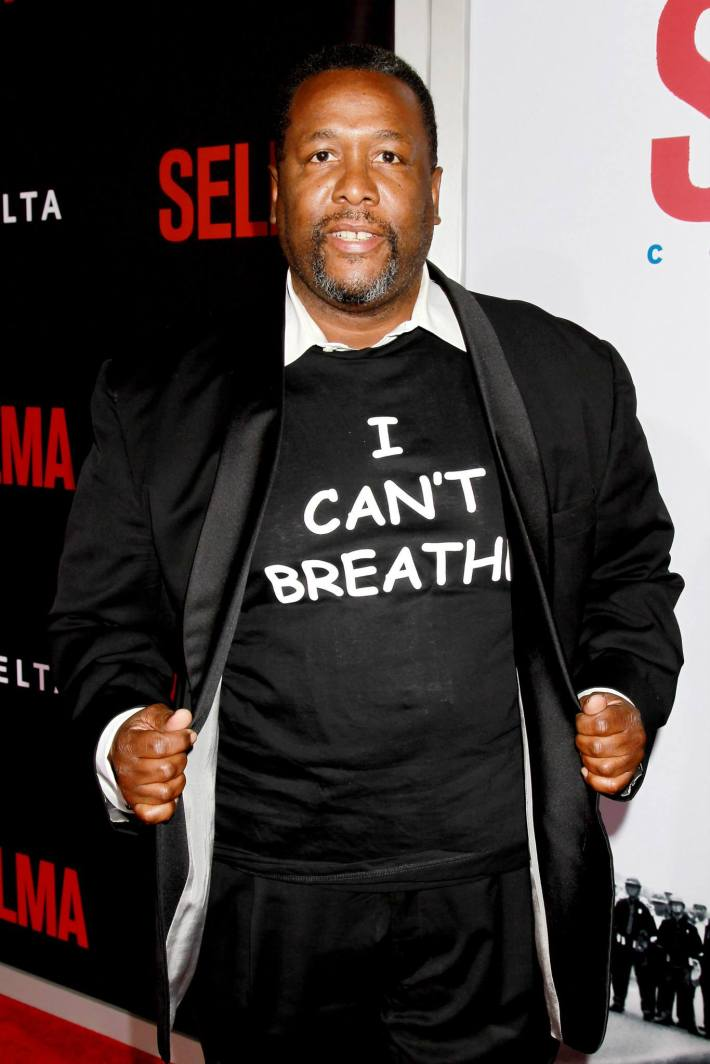 Actor Wendell Pierce attends the 'Selma' New York Premiere at the Ziegfeld Theater