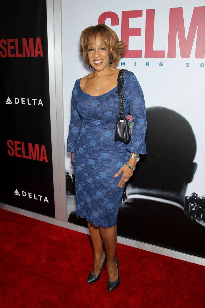 Gayle King attends the 'Selma' New York Premiere at the Ziegfeld Theater