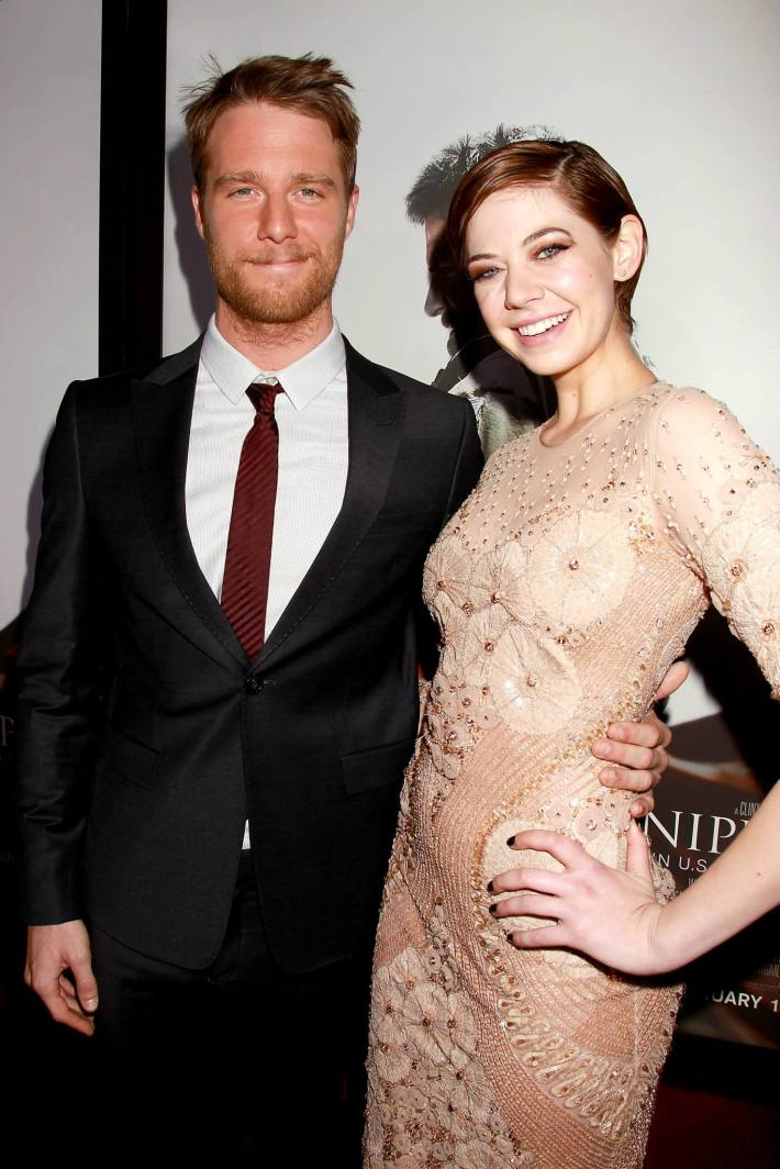 Jake McDorman and Analeigh Tipton attend 'American Sniper' New York Premiere at Frederick P. Rose Hall, Jazz at Lincoln Center