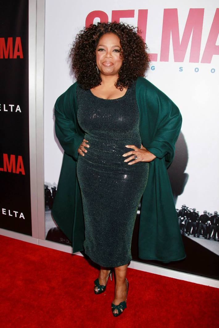 Actress Oprah Winfrey attends the 'Selma' New York Premiere at the Ziegfeld Theater