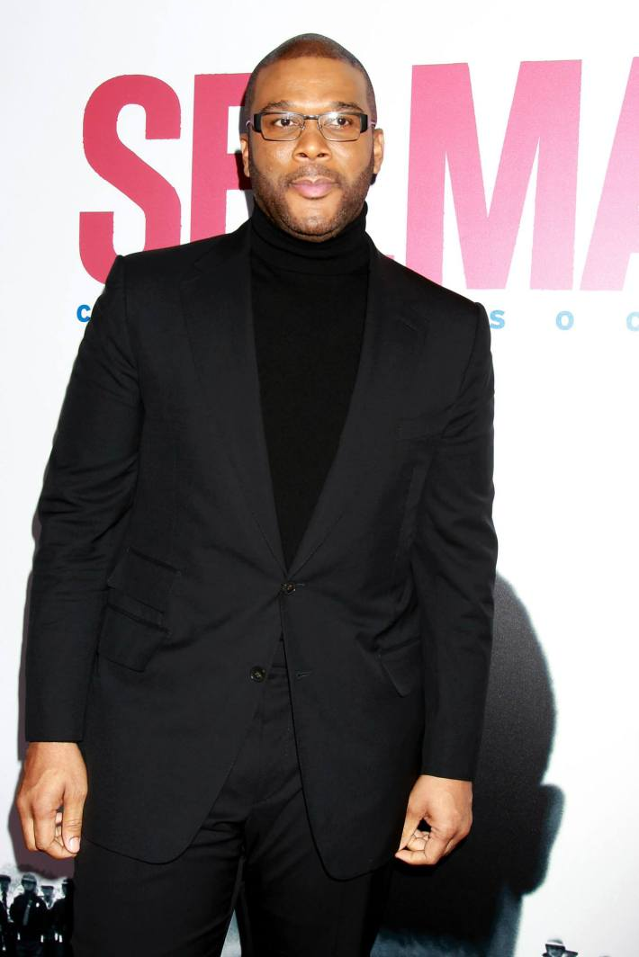 Actor Tyler Perry  attends the 'Selma' New York Premiere at the Ziegfeld Theater