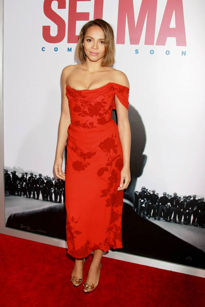 Actress Carmen Ejogo attends the 'Selma' New York Premiere at the Ziegfeld Theater