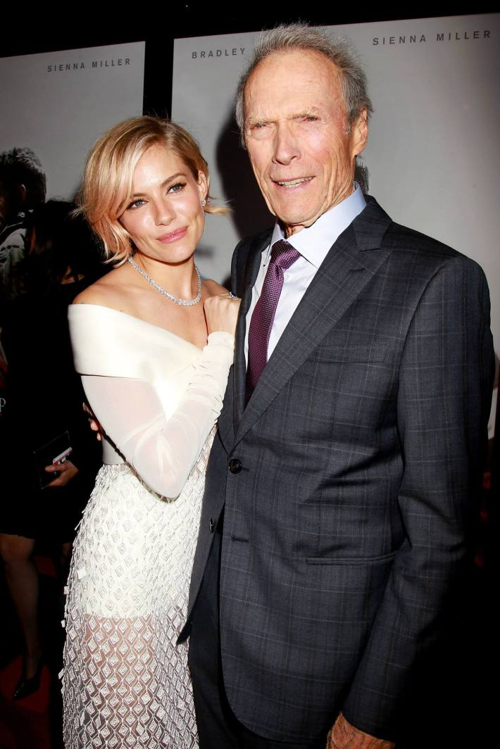 Sienna Miller, Producer and Director, Clint Eastwood  attend 'American Sniper' New York Premiere at Frederick P. Rose Hall, Jazz at Lincoln Center