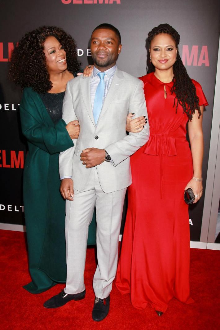 Oprah Winfrey, David Oyelowo and director Ava DuVernay attend the 'Selma' New York Premiere at the Ziegfeld Theater