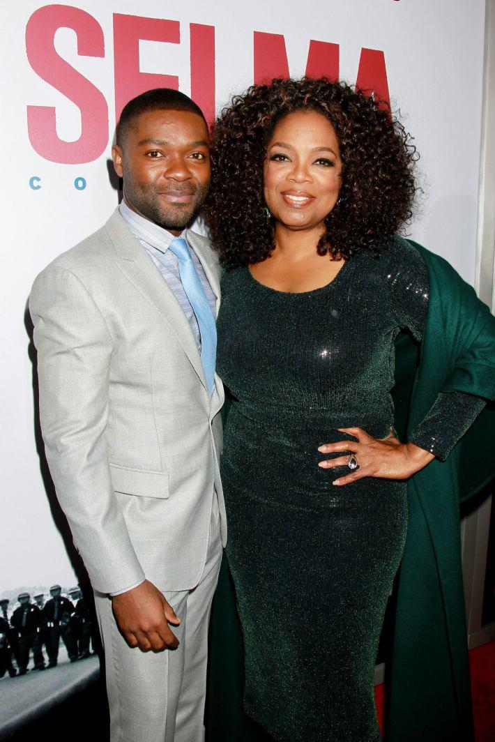 Oprah Winfrey, David Oyelowo attend the 'Selma' New York Premiere at the Ziegfeld Theater