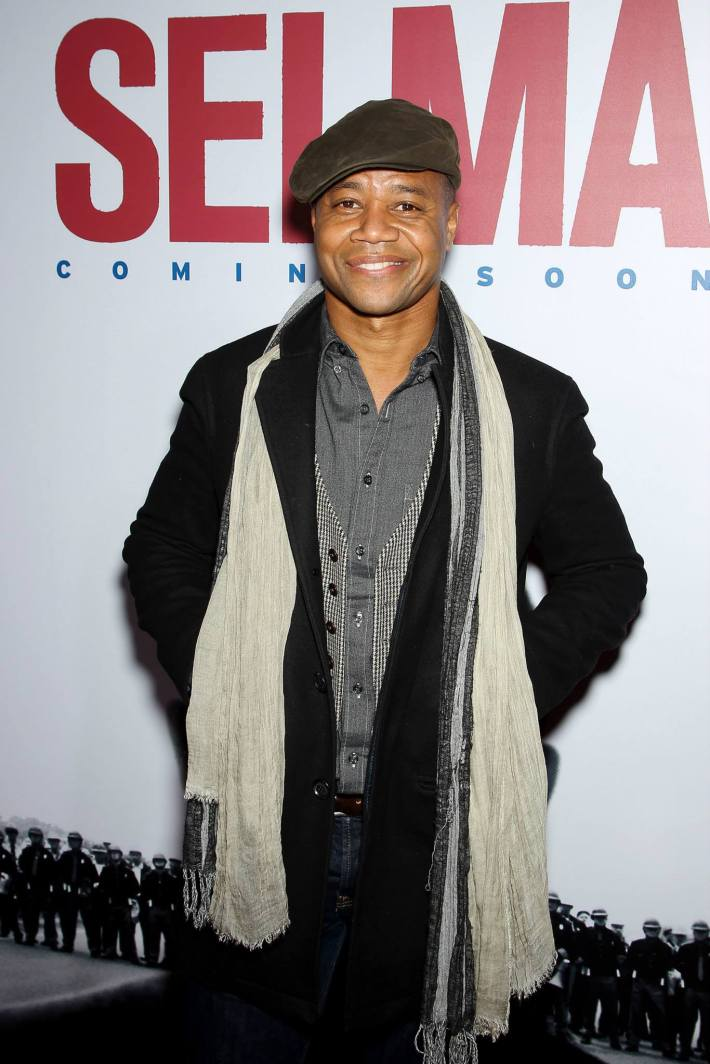 Actor Cuba Gooding Jr. attends the 'Selma' New York Premiere at the Ziegfeld Theater