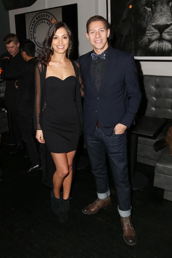 Anny Amado, Ricardo Zuniga attend Dale Noelle Presents True Model Management's Winter Warm Up (Photo by  J Grassi)
