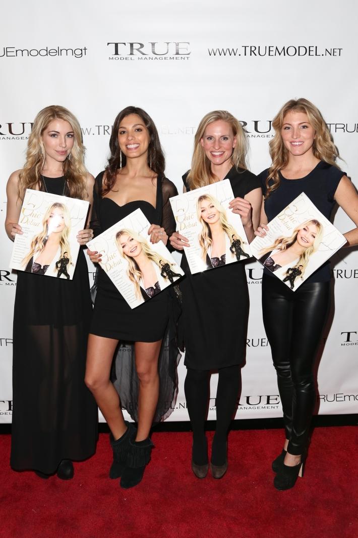 Liane Boyko, Anny Amado, Claire Cannon, Jacqueline Schuman attend Dale Noelle Presents True Model Management's Winter Warm Up (Photo by  J Grassi)