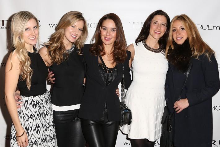 Tashina Zamlowski, Asta Atalita, Dale Noelle, Gerta Frasheri attend Dale Noelle Presents True Model Management's Winter Warm Up (Photo by  J Grassi)