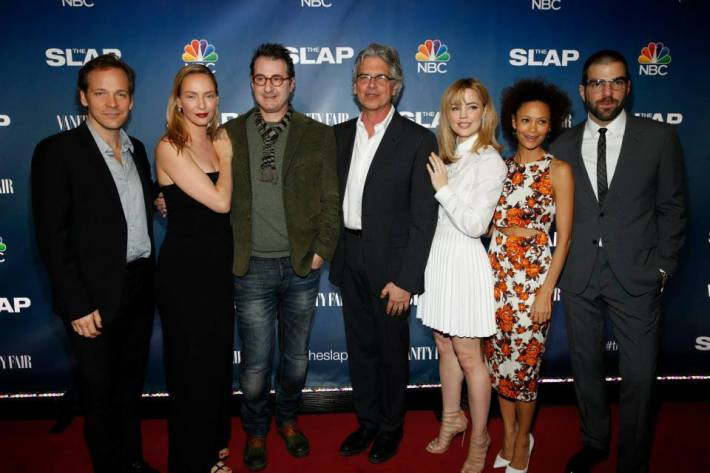 The Cast of NBC's 'The Slap' at the premiere party at The New Museum