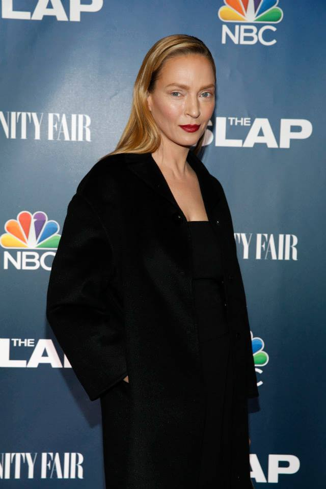 Actress Uma Thurman attends 'The Slap' premiere party at The New Museum
