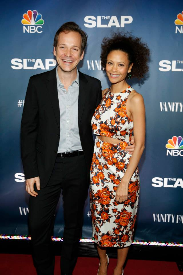 Actors Peter Sarsgaard and Thandie Newton attend 'The Slap' premiere party at The New Museum