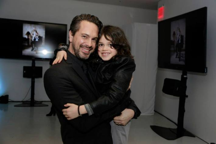 Thomas Sadoski and Dylan Schombing at the Vanity Fair premiere party for The Slap  at The New Museum