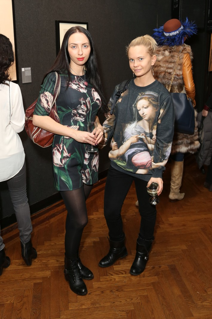Yana Milanger, Alex Maksymova attend Dali: The Golden Years at the The National Arts Club in New York City (Photo by  J.Grassi)