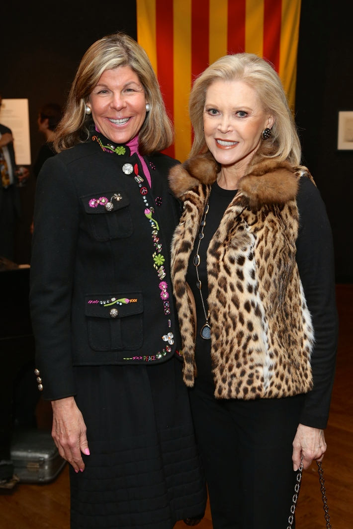 Jamee Gregory, Audrey Gruss attend Dali: The Golden Years at the The National Arts Club in New York City (Photo by  J.Grassi)