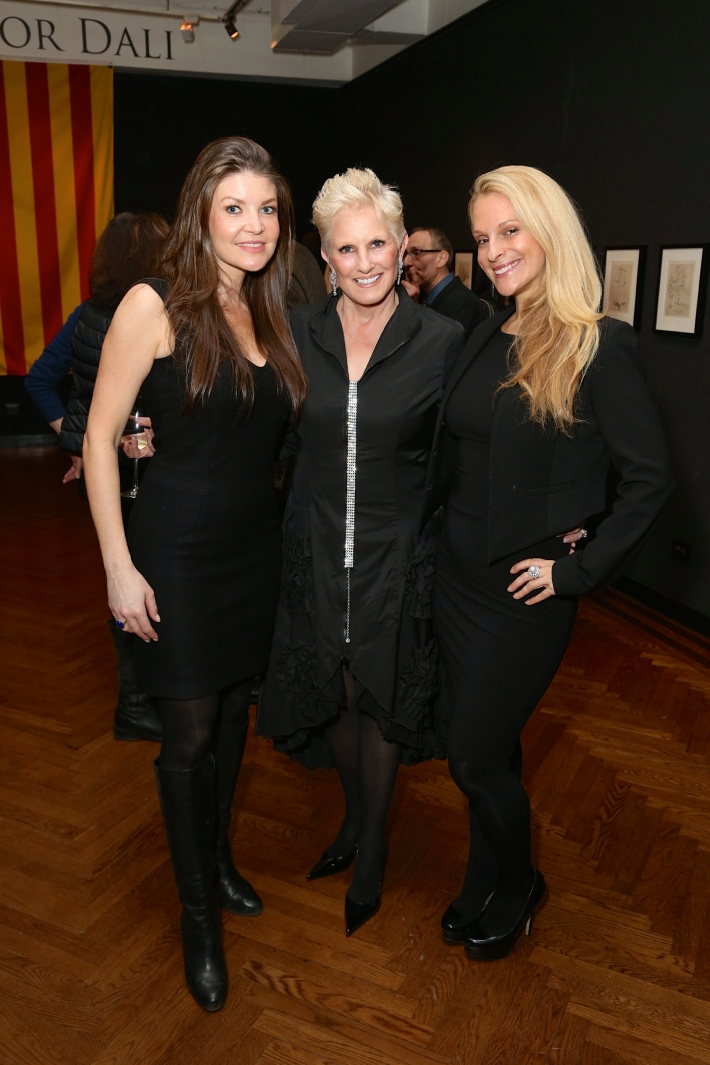 Nicole Noonan, Dianne Bernhard, Consuelo Vanderbilt Costin attend Dali: The Golden Years at the The National Arts Club in New York City (Photo by  J.Grassi)