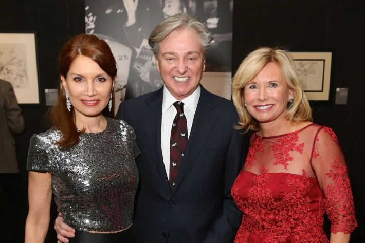 Jean Shafiroff, Geoffrey Bradfield, Sharon Bush attend Dali: The Golden Years at the The National Arts Club in New York City (Photo by  J.Grassi)