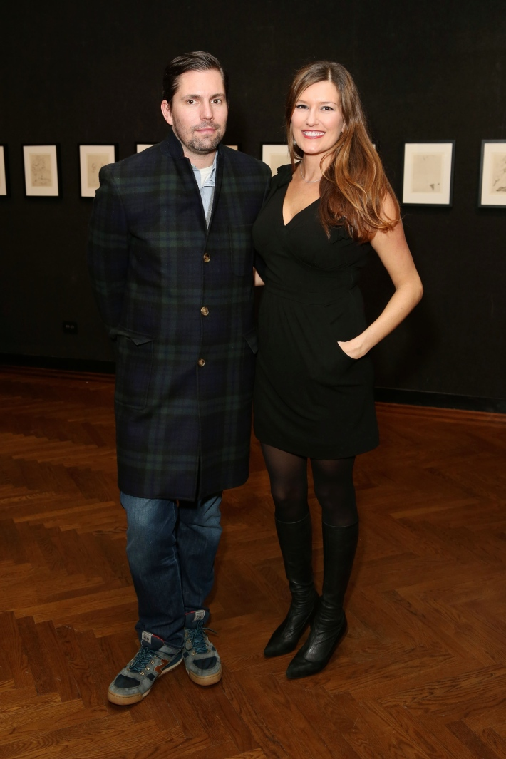 Chris Spargo, Renee Lucas attend Dali: The Golden Years at the The National Arts Club in New York City (Photo by  J.Grassi)