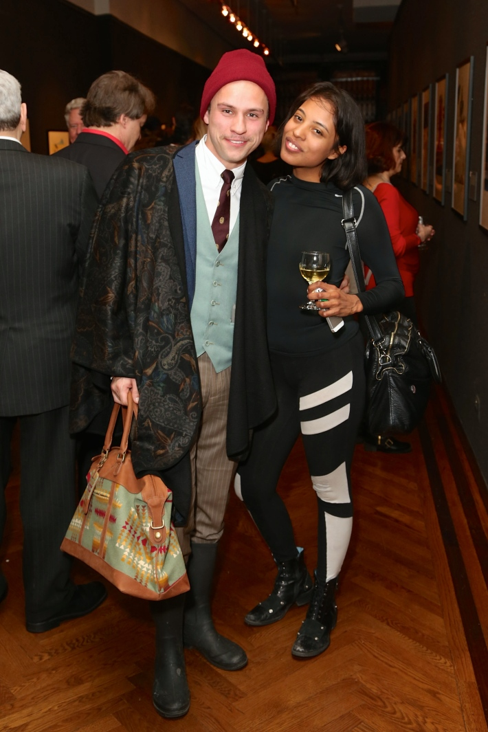 Drew Harper, Mima Dawn attend Dali: The Golden Years at the The National Arts Club in New York City (Photo by  J.Grassi)