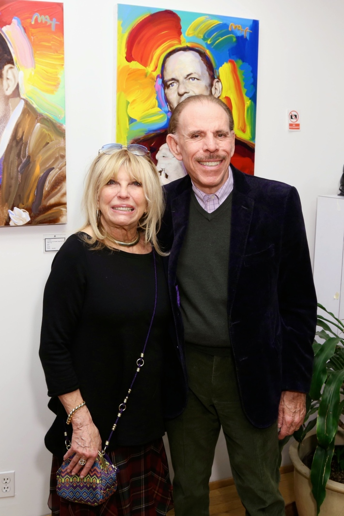 Nancy Sinatra with Peter Max at the Peter Max Paints Frank Sinatra: An American Icon reception