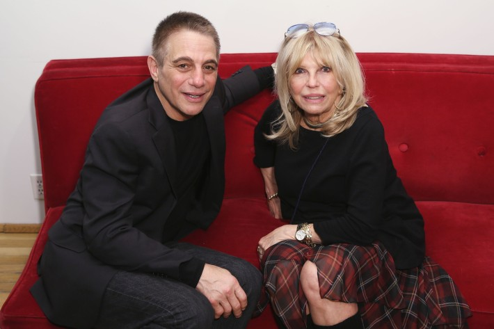 Tony Danza, Nancy Sinatra at the Peter Max Paints Frank Sinatra: An American Icon reception (Photo by  J Grassi)