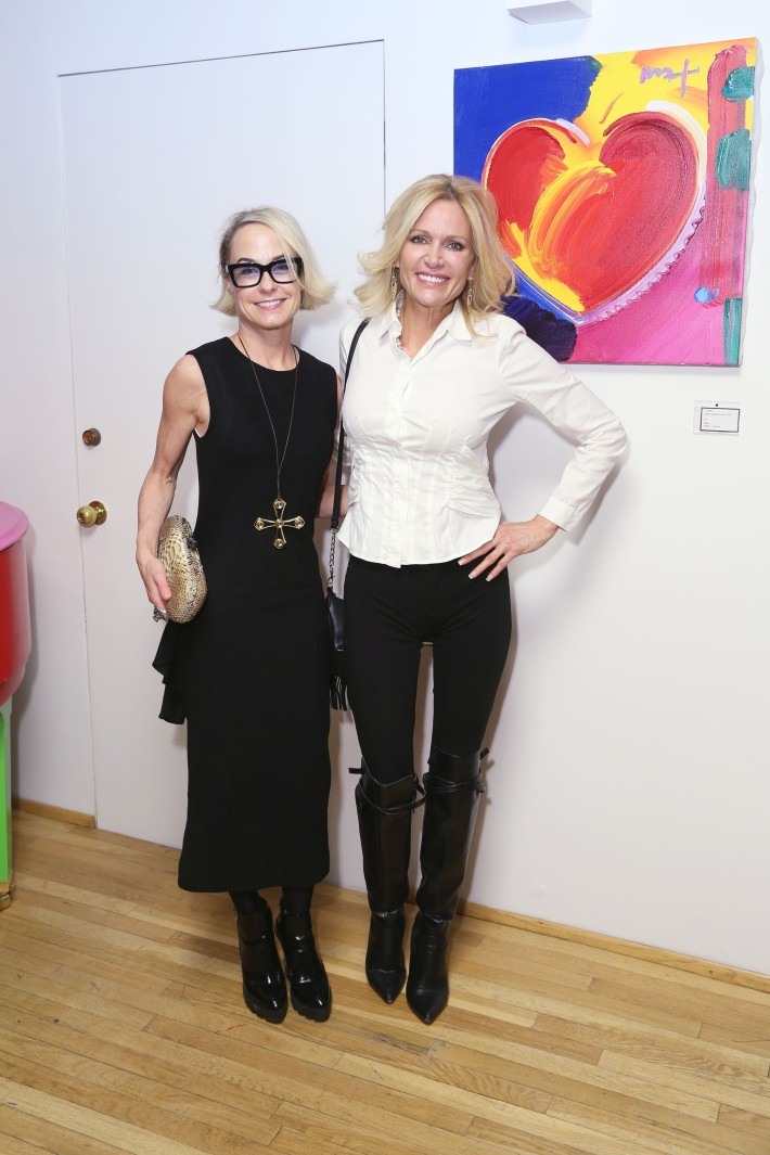 Robin Cofer, Leesa Rowland at the Peter Max Paints Frank Sinatra: An American Icon reception (Photo by  J Grassi)